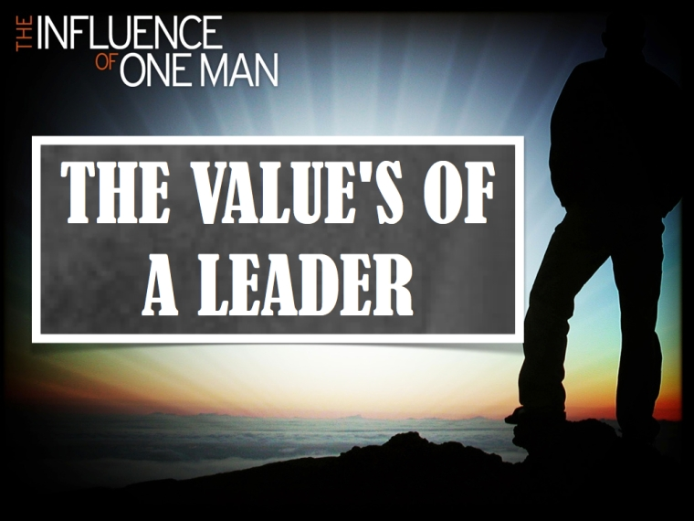 The Value's of a Leader.