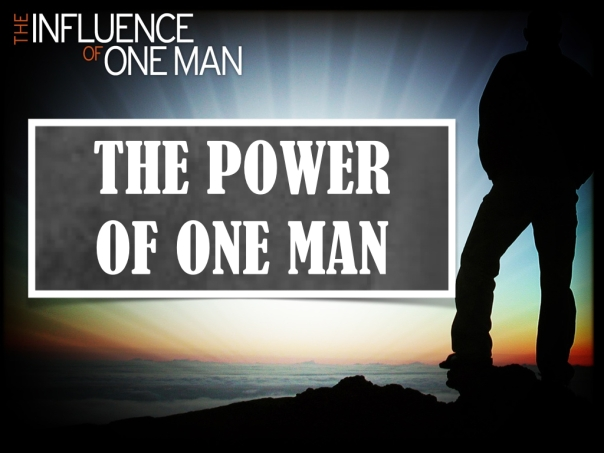 The Influence of One man.003
