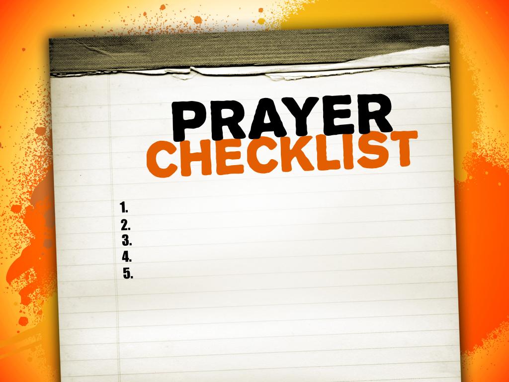 PRAYER CHECKLIST   whoopwhoopblog