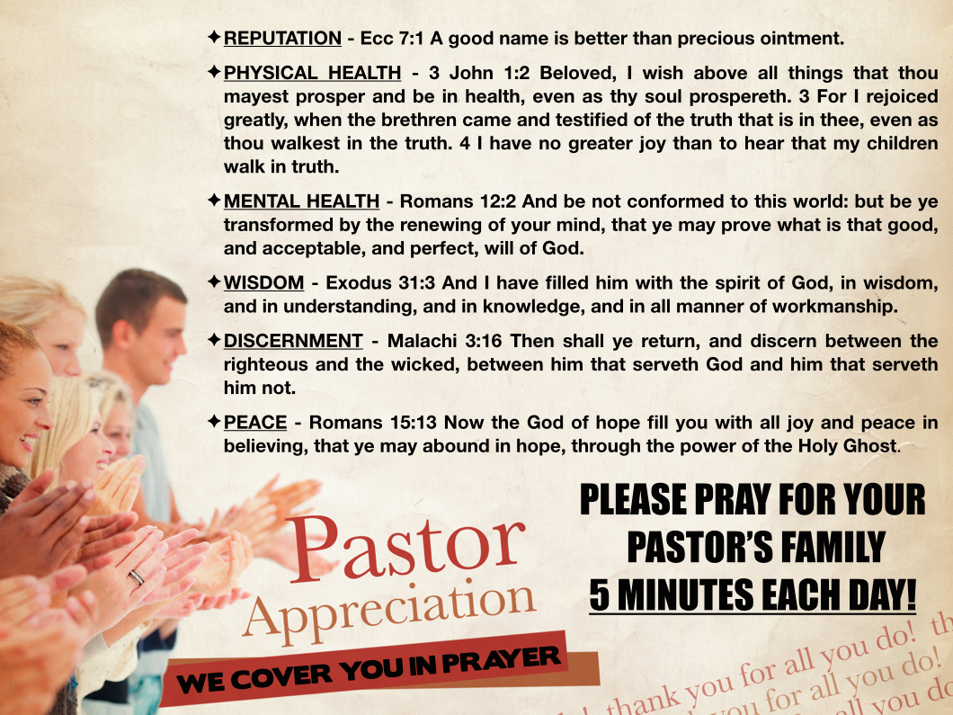 5) I WILL PRAY FOR MY CHURCH LEADERS   whoopwhoopblog