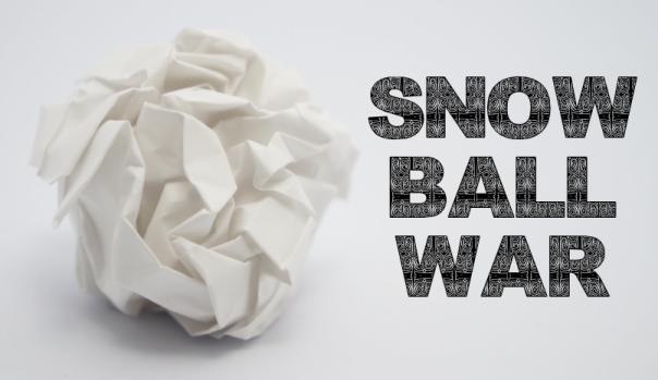 snow ball war