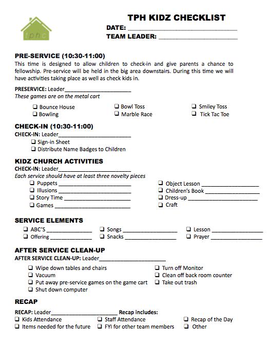 childrens ministry attendance sheet